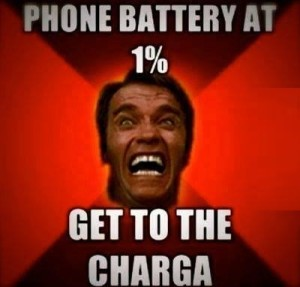 Phone Battery At 1% Get To The Charga