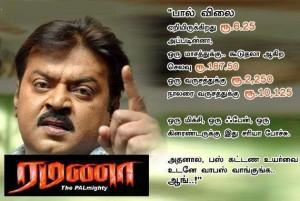 Actor Vijaiyakanth Arasiyal Comment Image