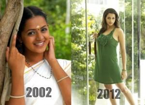 Bhavana 2002 - 2012 What A Change!!?