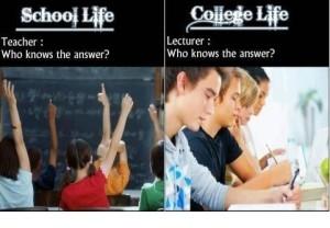 College Life vs School Life