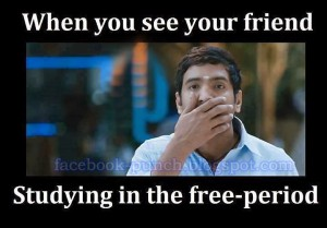When You See Your Friend Studying In The Free-Period-Santhanam