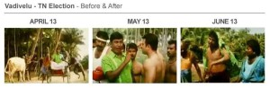Vadivelu-TN Election Before&After