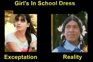 Vadivelu Comedy Reaction About Girls In School Dress
