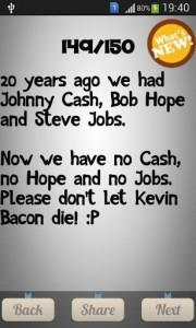 20 Years Ago We Has Johny Cash, Bop Hope and Steve Jobs