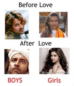 Before and After Love Boys vs Girls