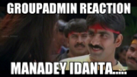 Group Admin Reaction Manadey Idanta...