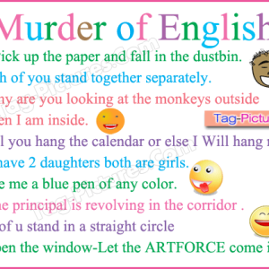 Murder Of English Comment Picture