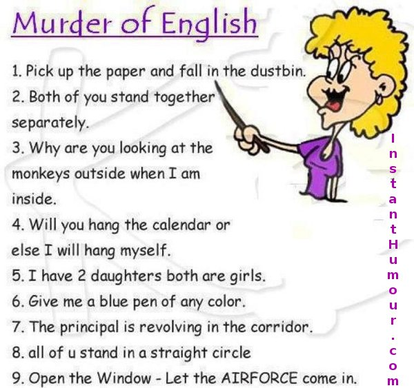 Murder Of English Funny Joke