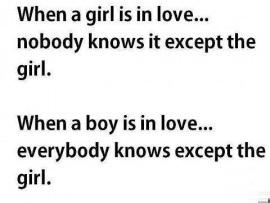 When A Girl Is In Love Vs Boy Is In Love