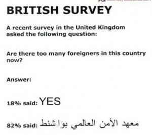 British Survey Jokes In English