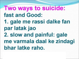 Two Ways To Suicide