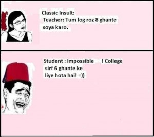 Classic Insult By Student