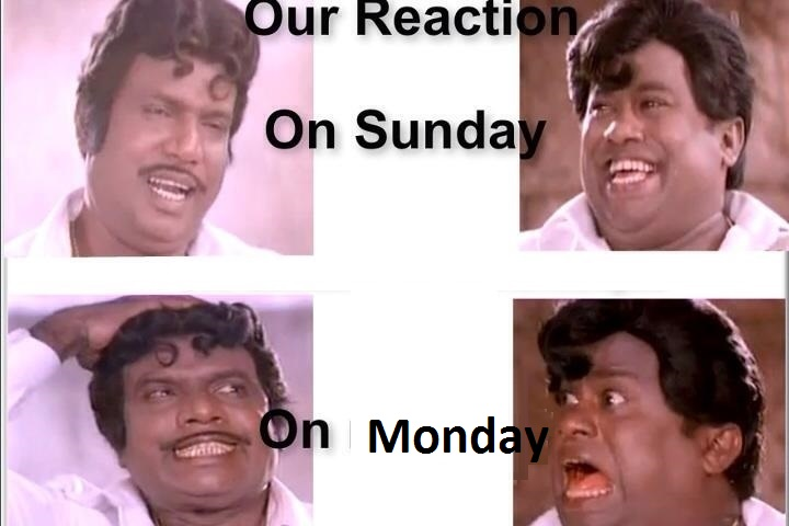 Our Reaction On Sunday vs Monday