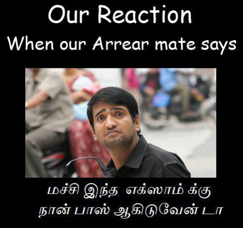 Our Reaction When Our Arrear Mate Says