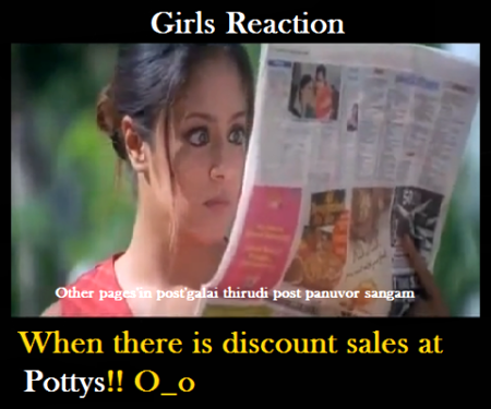 Girls Reaction Discount Sales At Pottys!!