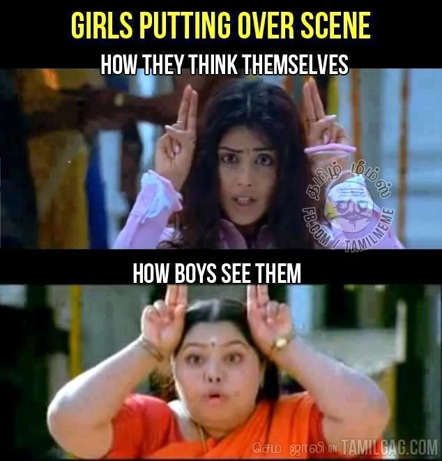 Girls Putting Over Scene