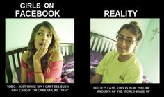 Girls On Facebook vs Reality