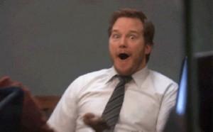 Chris Pratt Reaction Gif