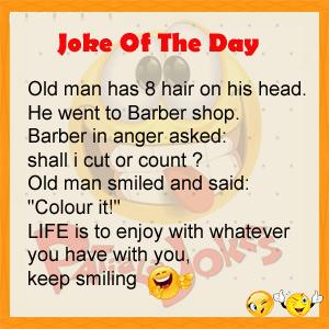 Old Man Has 8 Hair On His Head