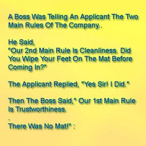 The Two Main Rules Of The Company