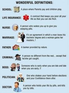 Wonderful Definitions In English