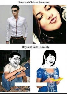 Boys and Girls On Facebook