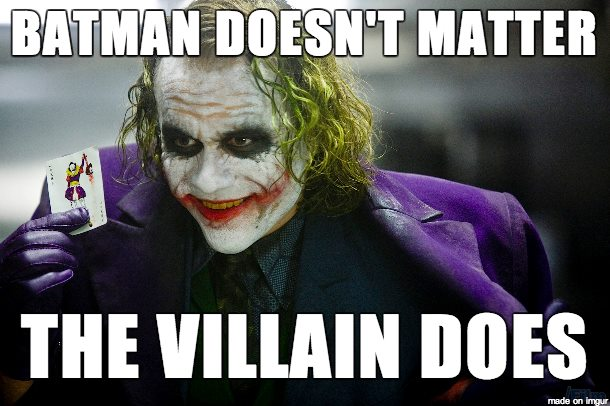 Batman Doesnt Matter Comment Photo