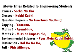 Movie Titles Related To Engineering Students
