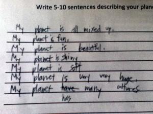 Write 5-10 Sentences Describing Your Planet