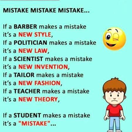 Mistake Mistake Mistake....