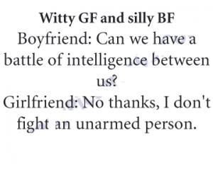 Witty Girlfriend and Silly Boyfriend