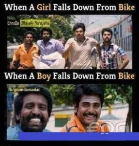 When A Boy or Girl Falls Down From Bike