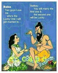 Lucky Guy English Joke Picture