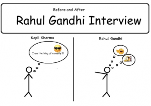 Before and After Rahul Gandhi Interview