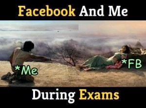 Facebook And Me During Exams