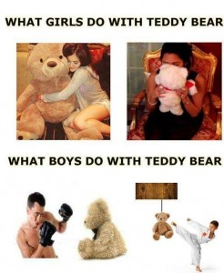 What Girls and Boys Do With Teddy Bear
