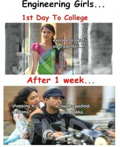Engineering Girls 1st Day To College