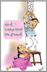 Love For Saree Cartoon Joke