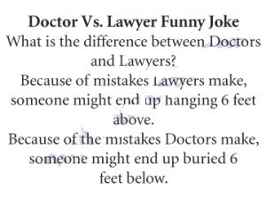 Doctor vs Lawyer Funny Joke