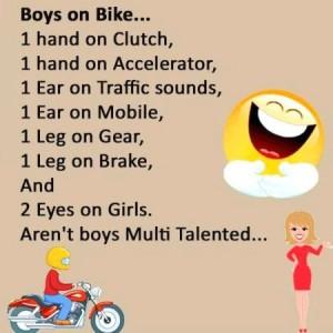 Boys On Bike....Jokes Funny