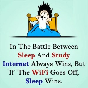 Battle Between Sleep and Study