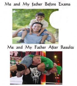 Me and My Father Before Exams and After Results