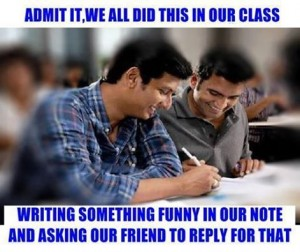Admit It We All Did This In Our Class