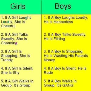 Girls vs Boys Joke