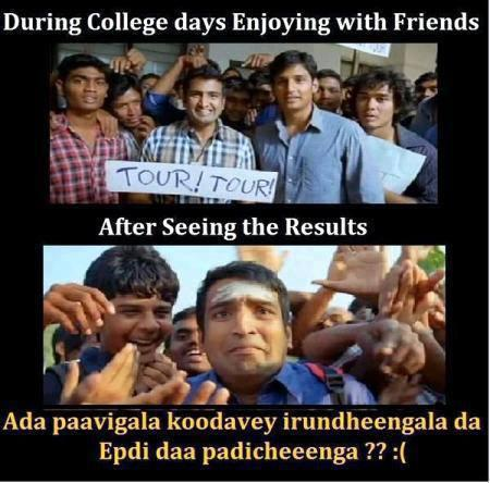 During College Days Enjoying With Friends