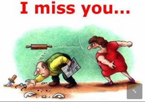 I Miss You Cartoon Jokes
