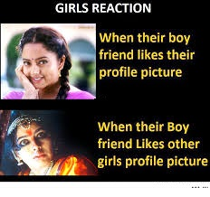 Girls Reaction For Profile Picture