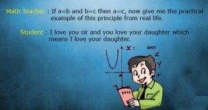 Math Teacher and Student Joke Picture