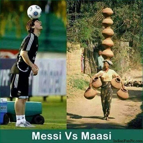 Messi vs Maasi Comment Photo