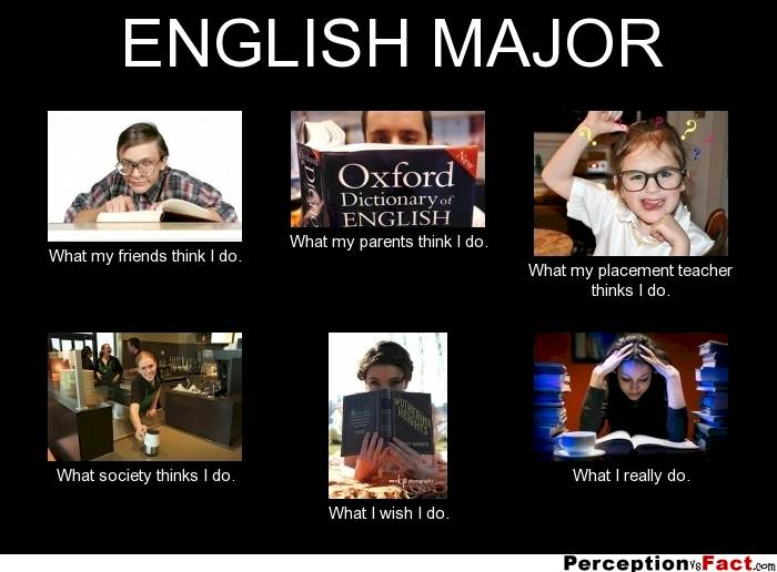 English Major Students Funny Meme